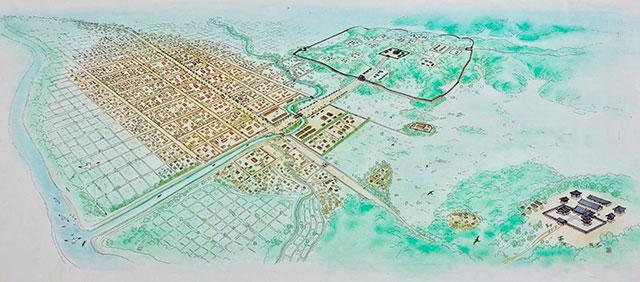 古代都市多賀城イラスト